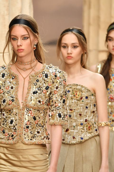 Fashion model, Clothing, Fashion, Shoulder, Dress, Haute couture, Cocktail dress, Joint, Fashion show, Neck,