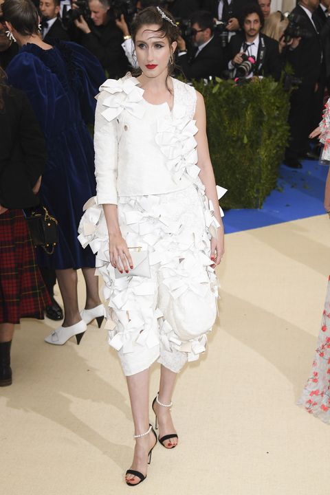 """NEW YORK, NY - MAY 01:  Anna Cleveland attends """"Rei Kawakubo/Comme des Garcons: Art Of The In-Between"""" Costume Institute Gala - Arrivals at Metropolitan Museum of Art on May 1, 2017 in New York City.  (Photo by Venturelli/WireImage)"""