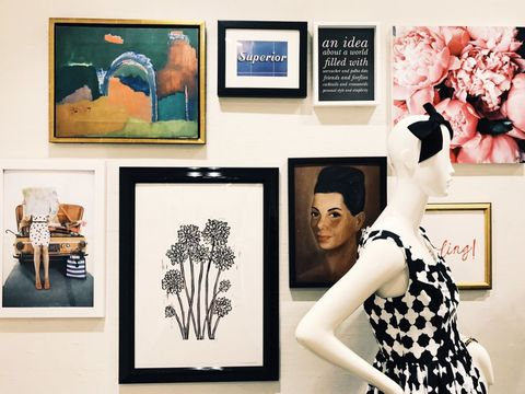 Room, Wall, Art, Collection, Black-and-white, Design, Picture frame, Photography, Modern art, Art exhibition,