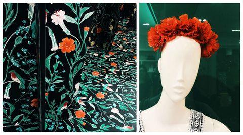Hair, Green, Clothing, Headpiece, Orange, Hair accessory, Hairstyle, Turquoise, Fashion, Headgear,
