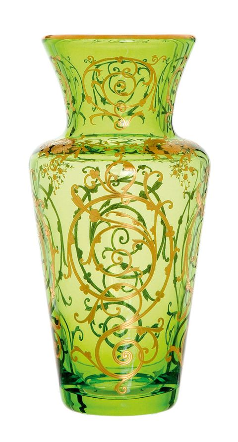 Vase, Green, Yellow, Artifact, Porcelain, Flowerpot, Ceramic, Urn, Interior design, earthenware,
