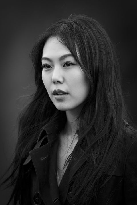 LONDON, ENGLAND - FEBRUARY 23: Actor Kim Min-Hee is photographed on February 23, 2015 while attending Burberry Porsum Fashion show in London, England. (Photo by Tristan Fewings/Getty Images Portrait)