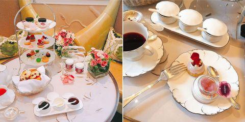 Porcelain, Saucer, Breakfast, Brunch, Meal, Food, Teacup, Dish, Tea party, Tableware,