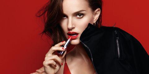 Lip, Hair, Face, Red, Beauty, Hairstyle, Photo shoot, Model, Black hair, Brown hair,