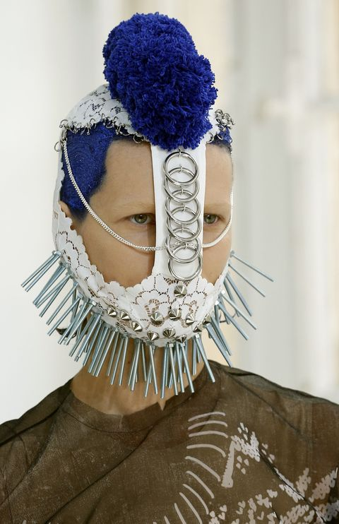 PARIS, FRANCE - JULY 05:  A model walks the runway during the Maison Margiela Haute Couture Fall/Winter 2017-2018 show as part of Haute Couture Paris Fashion Week on July 5, 2017 in Paris, France.  (Photo by Thierry Chesnot/Getty Images)