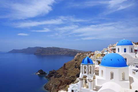Blue, Sky, Dome, Sea, Azure, Vacation, Tourism, Coast, Summer, Promontory,