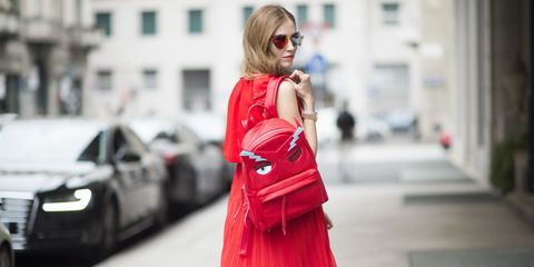 Clothing, Shoulder, Sunglasses, Bag, Style, Street fashion, Street, Fashion accessory, Blond, Luggage and bags,