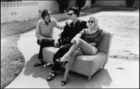 "<p>        電影《艾德伍德》拍攝現場。電影描述被稱為「史上最爛導演」的Ed Wood的一生,而Sarah Jessica Parker在電影中飾演主角Johnny Depp的女友。<span class=""redactor-invisible-space""></span></p>"