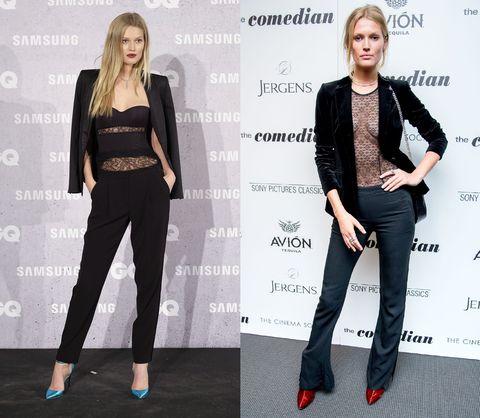 Clothing, Fashion, Jeans, Blazer, Suit, Footwear, Leg, Formal wear, Outerwear, Shoulder,
