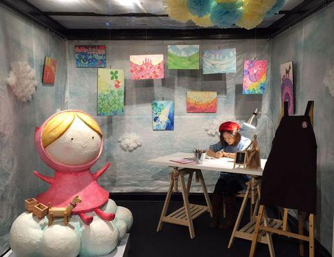 Organism, Room, Visual arts, Interior design, Art, Tourist attraction, Building, Illustration,