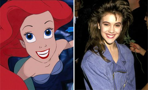 "<p>動畫師在創作《小美人魚》的Ariel時,看到1984年的電視劇《Who's the Boss》中美國女演員Alyssa Milano一頭褐髮臉上揚著甜美笑容,靈機一動決定將Alyssa Milano的神韻帶到Ariel身上。然而Alyssa Milano本人一直到2013年受邀參加迪士尼《小美人魚》幕後製作特輯時才得知原來自己是 Ariel的靈感來源!  <span class=""redactor-invisible-space"" data-verified=""redactor"" data-redactor-tag=""span"" data-redactor-class=""redactor-invisible-space""></span> </p>"