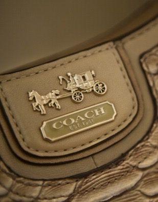 <p>「Coach」一詞其實就是馬車的意思,Logo的四輪大馬車即是古代時貴族專屬的交通工具,象徵著高貴與典雅。2013年品牌進行形象重塑,Logo字樣也有了些微變動,風格更加簡潔俐落並具高貴感,強調了Coach走向的精緻奢華。</p>