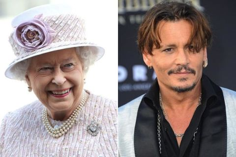 Johnny Depp與英國伊麗莎白女王二世也是隔了20代的表姊弟,兩人都是英格蘭國王愛德華三世的後代子孫。