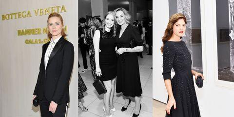 Clothing, Fashion, Fashion model, Black-and-white, Formal wear, Dress, Little black dress, Fashion design, Suit, Event,