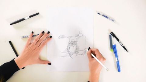 Drawing, Eyebrow, Sketch, Hand, Eye, Pencil, Design, Illustration, Font, Diagram,