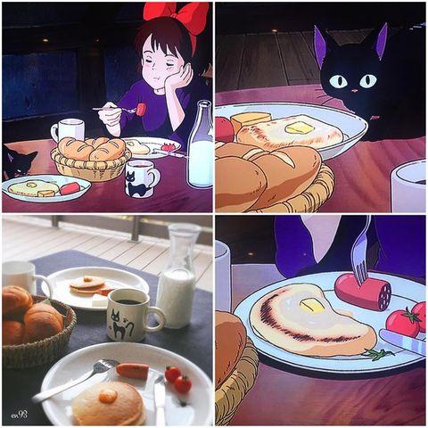 Cartoon, Food, Meal, Anime, Dish, Comfort food, Cuisine, Comics, Fiction, Breakfast,