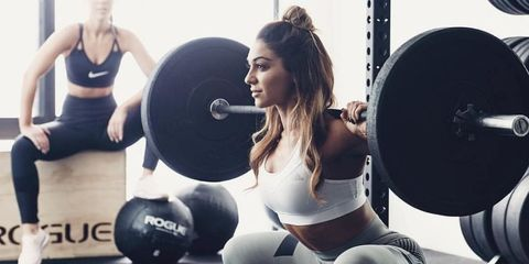 Physical fitness, Strength training, Weight training, Gym, Bodybuilding, Weights, Exercise, Fitness professional, Squat, Exercise equipment,