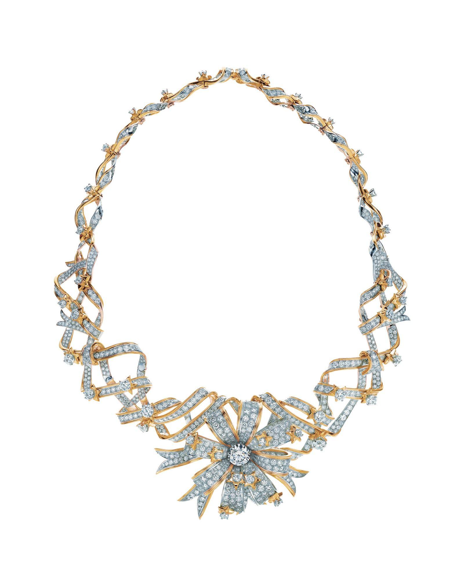 <p>Jean Schlumberger黃鑽鑽石緞帶項鍊,Tiffany Co.。</p>