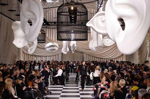 Fashion, Event, Crowd, Architecture, Design, Interior design, Performance, Dress, Ceremony, Fashion design,
