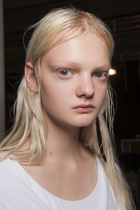 Hair, Face, Blond, Hairstyle, Eyebrow, Lip, Beauty, Chin, Cheek, Skin,
