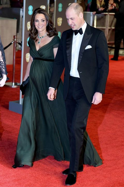 The Duke,Duchess of Cambridge,威廉王子,凱特王妃,Jenny Packham,The Black Tux,British Academy of Film and Television Arts,英國奧斯卡,英國演藝學院電影獎,BAFTAS,