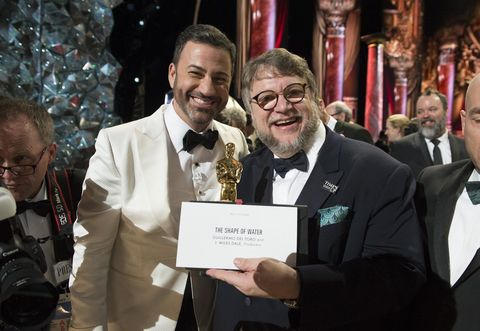 THE OSCARS(r) - The 90th Oscars(r)  broadcasts live on Oscar(r) SUNDAY, MARCH 4, 2018, at the Dolby Theatre® at Hollywood & Highland Center® in Hollywood, on the ABC Television Network. (Eric McCandless via Getty Images)JIMMY KIMMEL, GUILLERMO DEL TORO