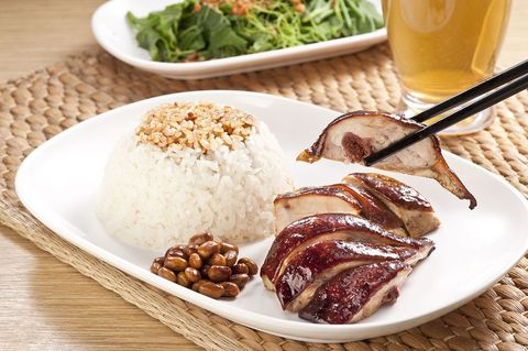 Dish, Food, Cuisine, Ingredient, Hainanese chicken rice, Produce, White rice, Staple food, Recipe, Steamed rice,