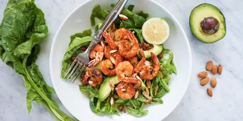 Dish, Food, Cuisine, Shrimp, Ingredient, Salad, Spinach salad, Vegetable, Scampi, Produce,