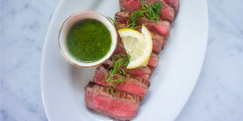 Dish, Food, Cuisine, Flat iron steak, Roast beef, Ingredient, Meat, Steak, Veal, Beef tenderloin,