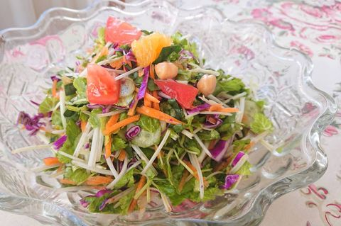 Food, Garden salad, Salad, Dish, Cuisine, Ingredient, Vegetable, Coleslaw, Plant, Vegetarian food,
