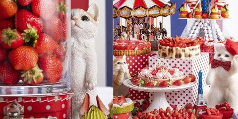 下午茶, 希爾頓飯店, 日本, 東京, 草莓甜點, 貓咪