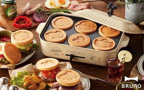 史努比多功能鑄鐵電烤盤