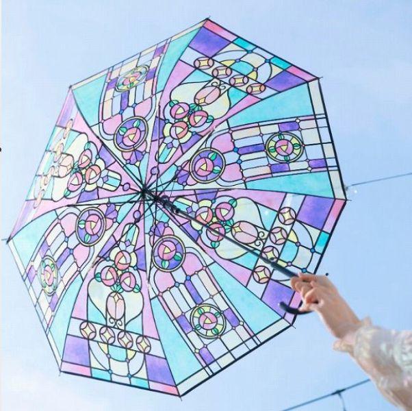 下雨天最浪漫復古的拼貼色彩!日本雜貨品牌「you more」推出大正羅馬風格彩繪玻璃傘
