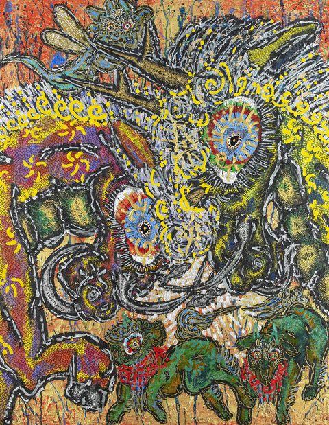 Art, Visual arts, Psychedelic art, Mosaic, Modern art, Pattern, Painting, Motif, Illustration, Acrylic paint,