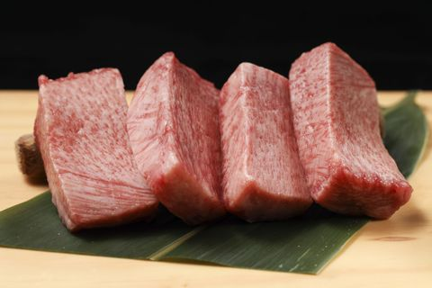 Food, Kobe beef, Red meat, Dish, Animal fat, Cuisine, Beef, Veal, Meat, Flesh,