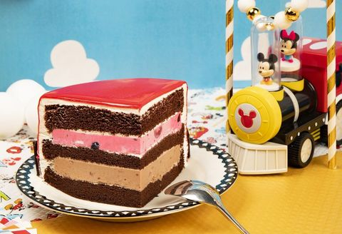 Cake, Food, Frozen dessert, Dessert, Torte, Baked goods, Pink, Cuisine, Sweetness, Chocolate cake,