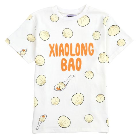 White, Clothing, Yellow, T-shirt, Product, Text, Font, Pattern, Sleeve, Design,