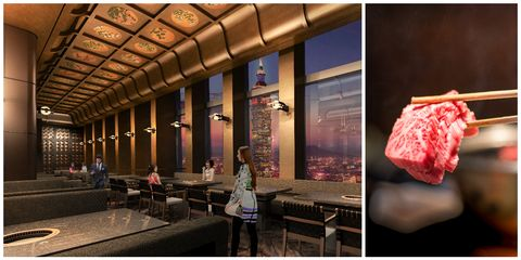 Building, Room, Interior design, Architecture, Cuisine, Food, Restaurant,