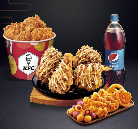 肯德基,kfc,炸雞,肯德基蛋塔,大阪燒脆雞,抹茶雲朵蛋撻,速食,肯德基必吃,XL套餐