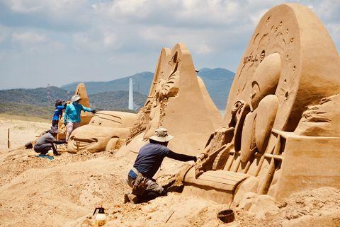2021福隆國際沙雕藝術季 重溫皮克斯經典中秋開展