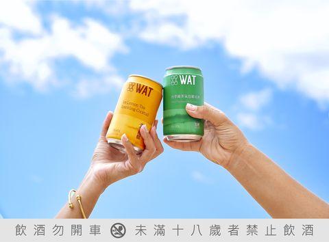 wat氣泡雞尾酒全家開賣!「棟檸茶氣泡雞尾酒」+「綠茶氣泡雞尾酒」讓你微醺迎夏