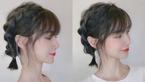 中長髮運動髮型