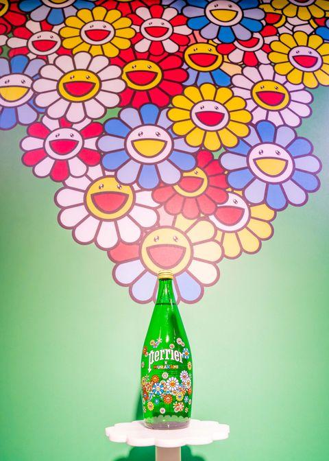 沛綠雅x村上隆推出「微笑花花」聯名包裝氣泡水!繽紛版全台正式限量上市、同步打造近百坪「花花世界」期間限定店
