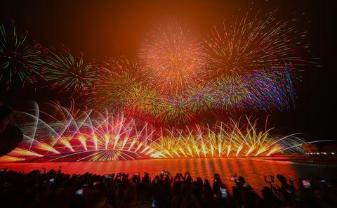 2021澎湖花火節盛大開幕,line friends主題無人機科技燈光秀以及高空煙火秀