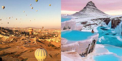 土耳其,旅遊,棉堡,熱氣球,洞穴飯店