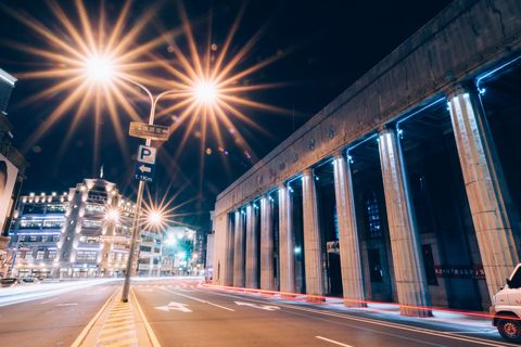Night, Landmark, Street light, Light, Sky, Lighting, Metropolitan area, Urban area, Architecture, City,