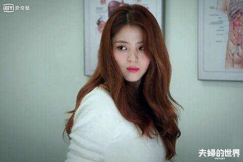 Hair, Face, White, Lip, Beauty, Skin, Red, Eyebrow, Hairstyle, Hair coloring,