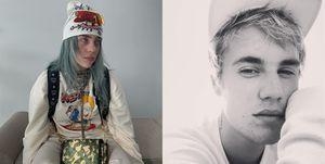 小賈斯汀, Billie Eilish,怪奇比莉, DM, Justin Bieber, 合作, 單曲,