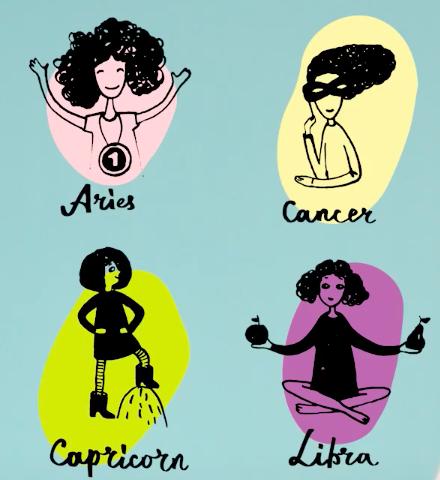 牡羊座,天秤座,巨蟹座,摩羯座