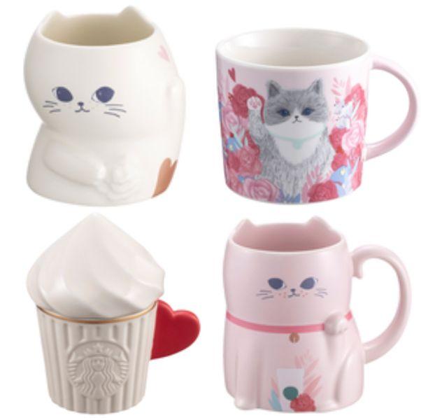 星巴克2020情人節限定商品搶先看 情人物語冷水壺 愛戀貓咪馬克杯